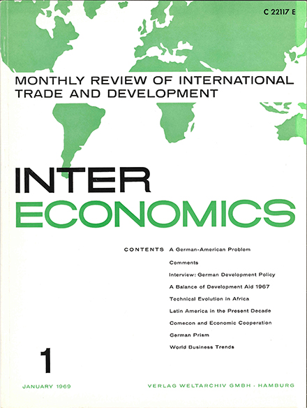 Cover of Intereconomics in the 1960s