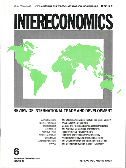 Cover of Intereconomics in the 1980s