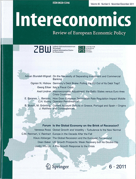 Cover of Intereconomics in the 2000s